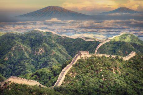 Landschaft mit chinesicher Mauer