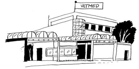 Illustration eines Gebäudes der VetMed