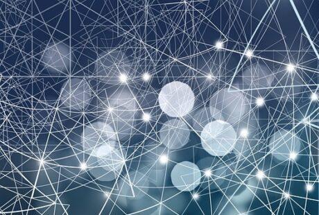 eine Illustration eines digitalen Netzes