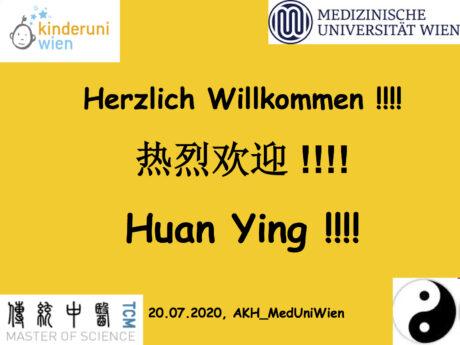 Präsentationsfolie 1: Herzlich Willkommen! Huan Ying!