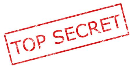 Ein Stempelabdruck mit der Aufschrift Top Secret