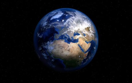 Erdkugel vom Weltall aus