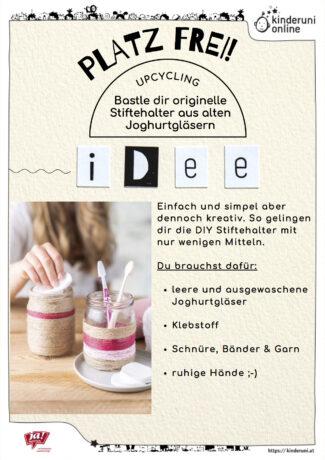 DIY Stiftehalter aus Joghurtgläsern (Bastelanleitung) 1