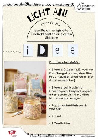 DIY Teelichthalter aus Gläsern (Bastelanleitung)