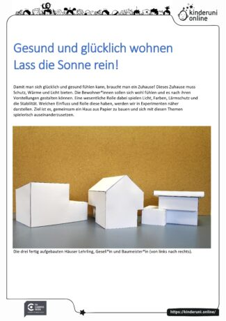 """Kursunterlagen """"Gesund und glücklich wohnen"""", Seite 1"""