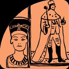 Illustration historischer Herscherfiguren