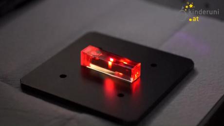 Fluoreszenzmessung mit Laserlicht im Labor